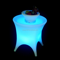 Hot sale beautiful cheap glowing furniture LED light party cocktail/coffee bar table