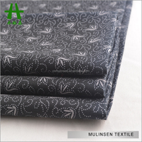 Mulinsen Textile Custom Printed 32s 50s 60s Woven 100% Cotton Sateen Fabric Price Per Yard