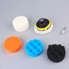 Worldwide 7pcs/set 3 inch Buffing Pad Auto Car Polishing sponge Wheel Kit With M10 Drill Adapter Buffer