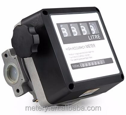 4 digit fuel gasoline mechanical flow meter