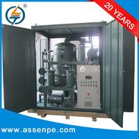 Double stage high vacuum transformer oil purification and filtration machine