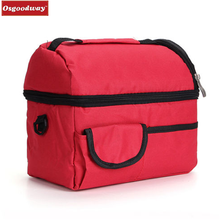 Osgoodway Insulated Thermal Lunch Bag Cooler Bag Ice Box Lunch Box Camping Lunch Tote food storage