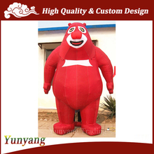 HOT Red Giant Inflatable Bear, Inflatable Cartoon Characters