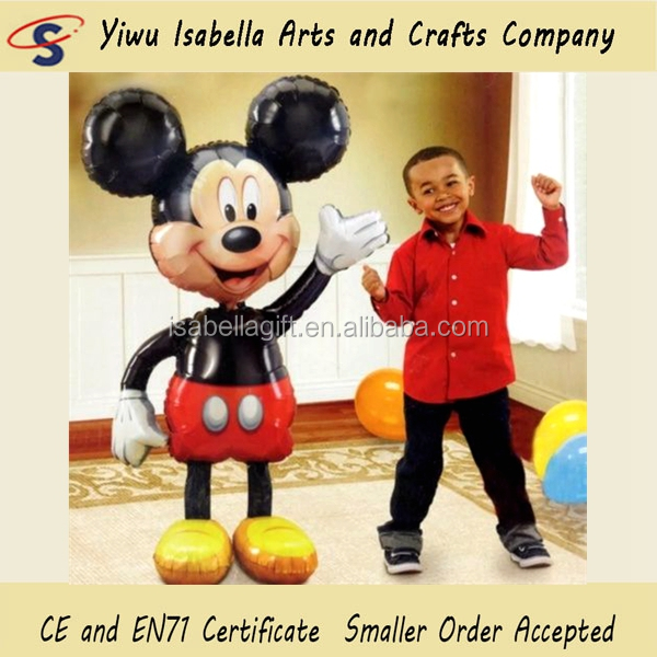 Happy New Year 2017 Helium Foil Minne Mouse Birthday Gift Giant Size Big Mickey Balloon For Kids Toys Party Decorations