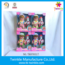 Hot sell cute vinyl baby toy dolls for kids 13inch doll baby