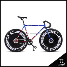 Wholesale DIY 700C Fixie Road Bike Magnesium Alloy 5 Spoke Wheel Rim Bicicleta Fixed Gear Urban Bisiklet Track Bike Cycle Road