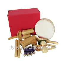 wholesale wooden musical instrument percussion set name of musical instruments