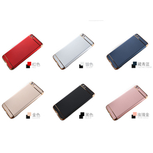 Drop Resistance 3 in 1 Electroplating PC Hard Phone Case for xiaomi redmi NOTE 4X MI 5S PLUS NOTE 2