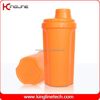 Daily used 700ml plastic custom shaker bottle with ball machine with lid (KL-7028)