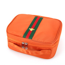 Professional makeup case made in China beautiful cosmetic bags with logo printed