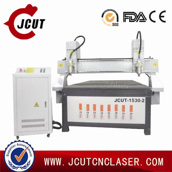 High effiency cnc 5 axis machine center JCUT-1530B-2(two heads)