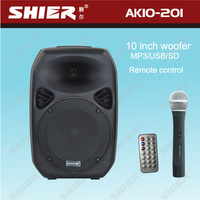 SHIER AK10-201 Portable 10 inches woofer wireless sound enhancer 12V