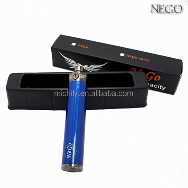 Michily ecigarette wholesale 3.3-4.8v twist on Buttom N-ego battery 2200mah