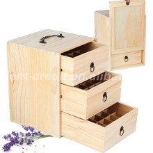 75 Bottles & 3 Tier Essential Oil Wood Box Wooden Storage display packaging Case with Handle Holds