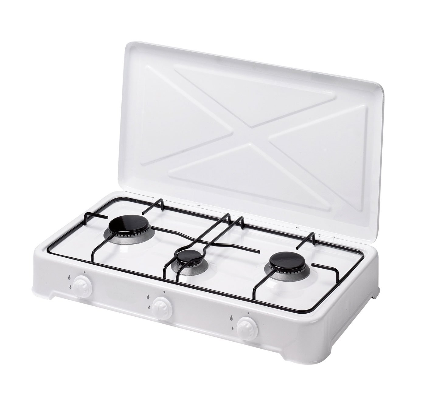THREE BURNER TABLE TOP GAS COOKER