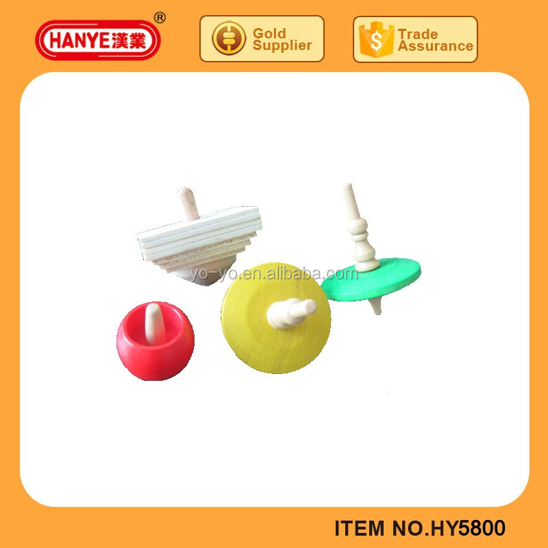 Material wood spinning top toys