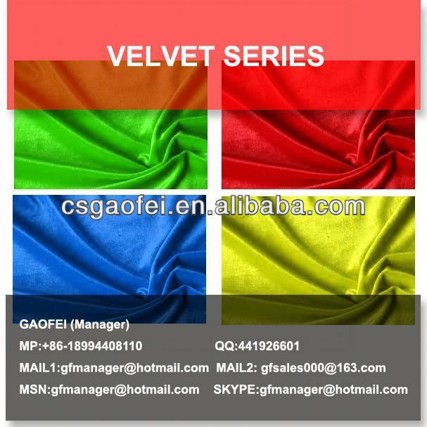 Polyester woven velvet with gold thread