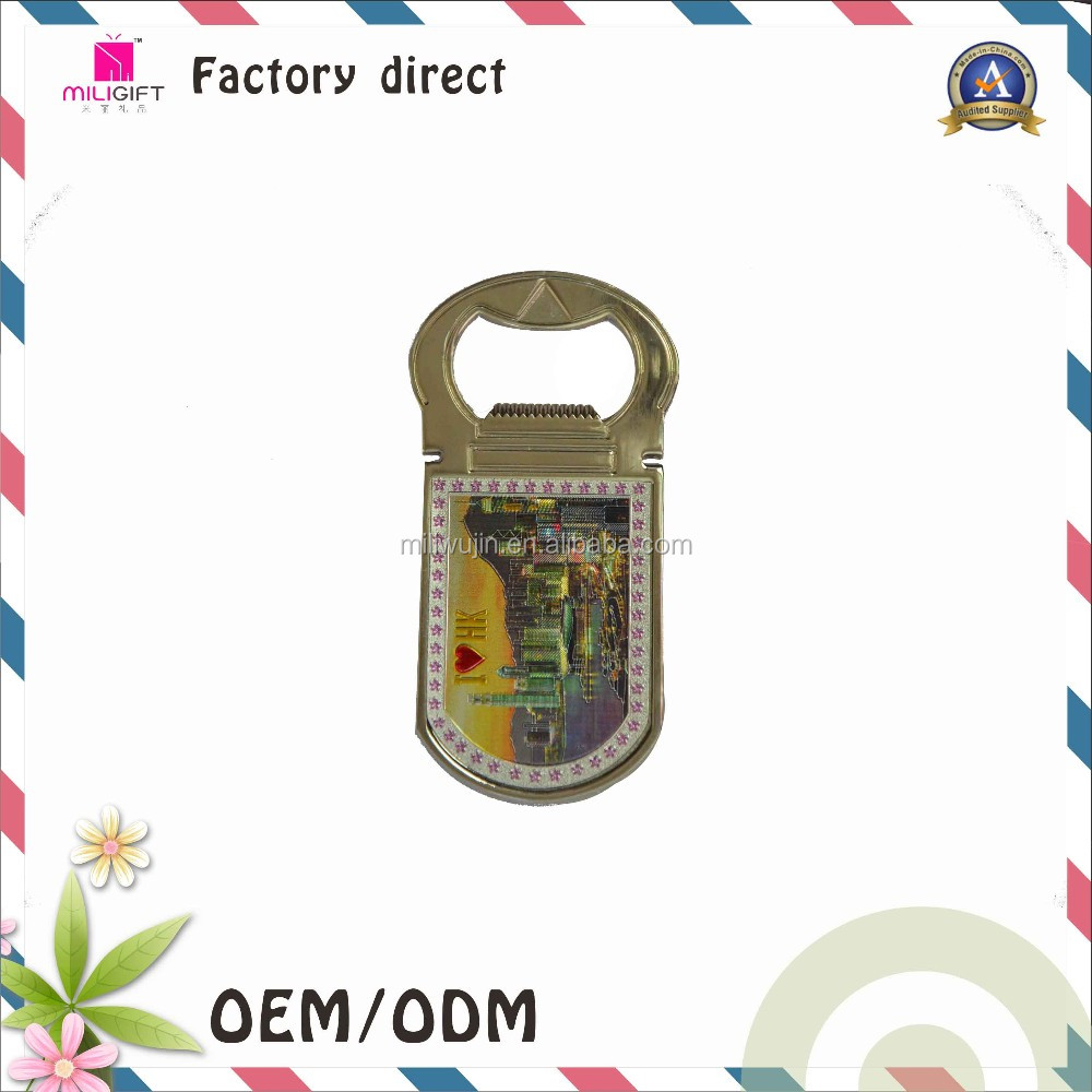 Wholesale metal bottle opener with fridge magnet function
