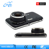 "4.0"" Car DVR Camera Dual Lens with LDWS Rear view Support Front Car Distance warning Full HD 1080P car dvrs dashcam"