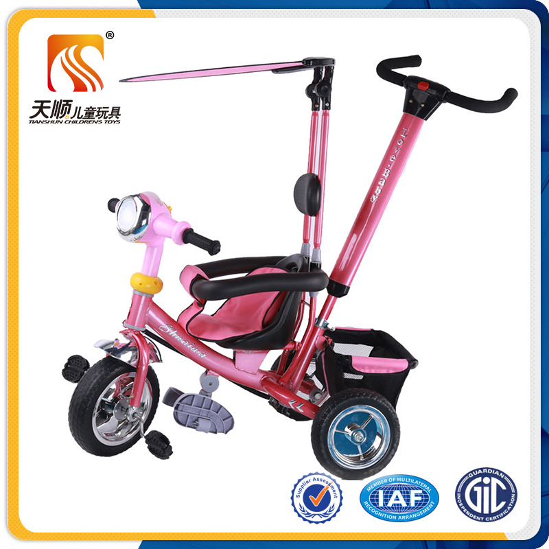 Foot Power Baby Tricycle Toy Pedal Car With Pushbar From China ...
