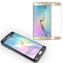 Electroplating full cover tempered glass screen guard with new design for samsung galaxy s6 edge