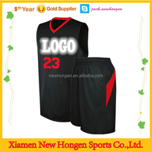 Sample basketball uniform design