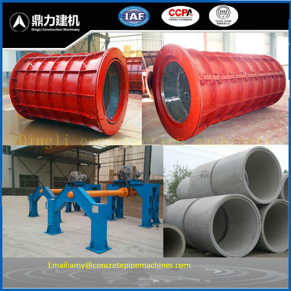 Concrete pipe making machine hanging roller tube machine horizontal type machine