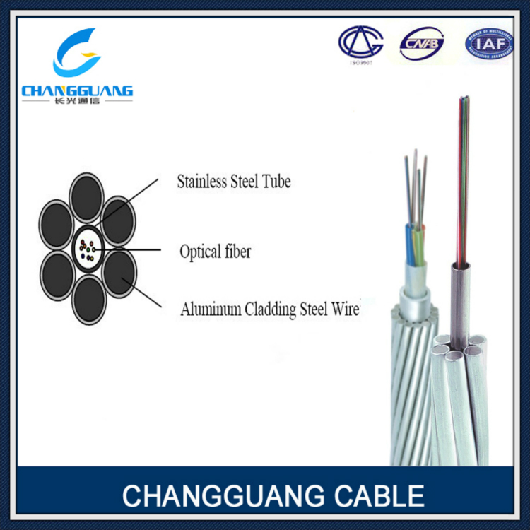 24 core high quality aerial self-supporting opgw cable