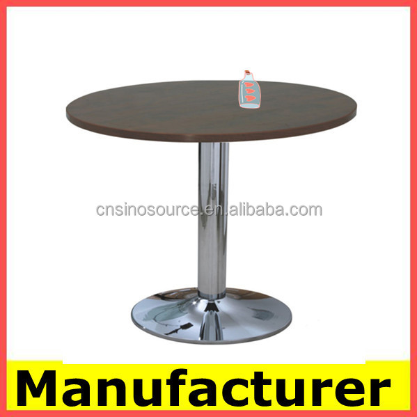 hot sale cheap modern wooden coffee table with metal legs
