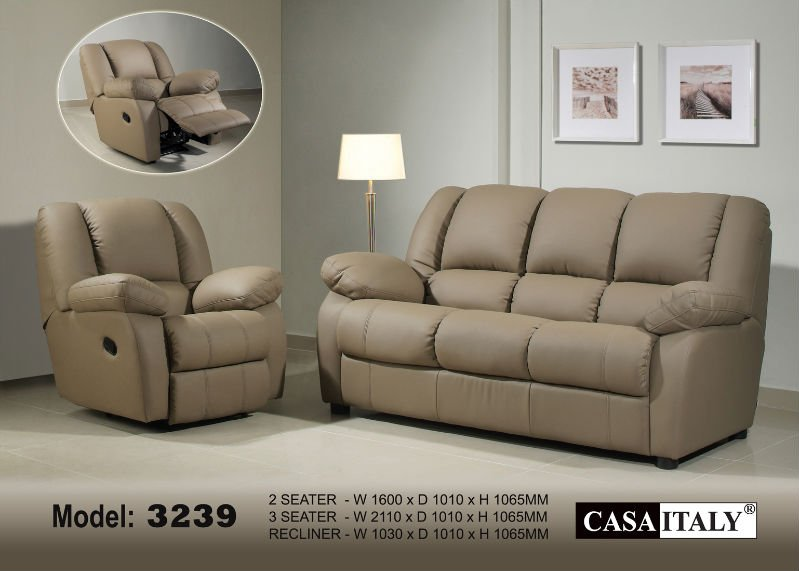 Casa Italy Leather Sofa F 3239
