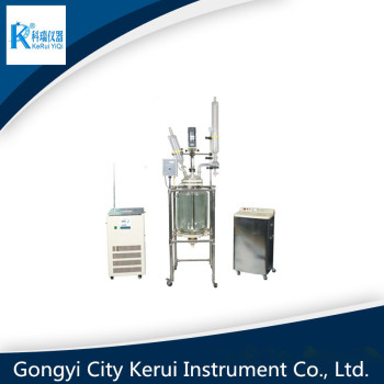double layer industrial glass bioreactor equipped with vacuum