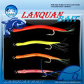 2015 Lanquan new sea eel hook squid part assisted hook fishing lure