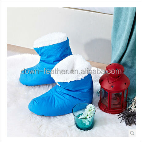 wholesale china warm winter women shoes with filled white duck down