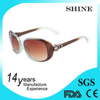 Personalized plastic 2014 fashion sun glasses for women