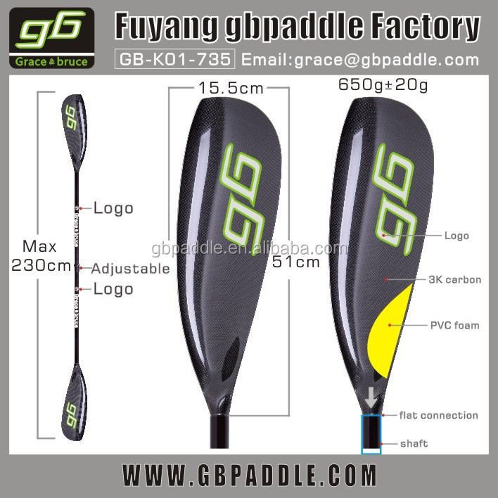 hot selling carbon fiber surf ski wing kayak paddle for sale