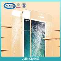 silk print front and back full covered tempered glass screen protector for iphone 6