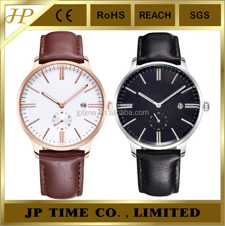 small hands decorated domed crystal leather strap quartz wrist watch SR626SW battery