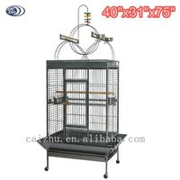 New Design Big Iron Wire Bird Cage with Outside Feeder