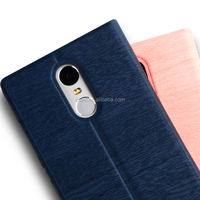 Leather Texture Ultra thin flip cover case for xiaomi note