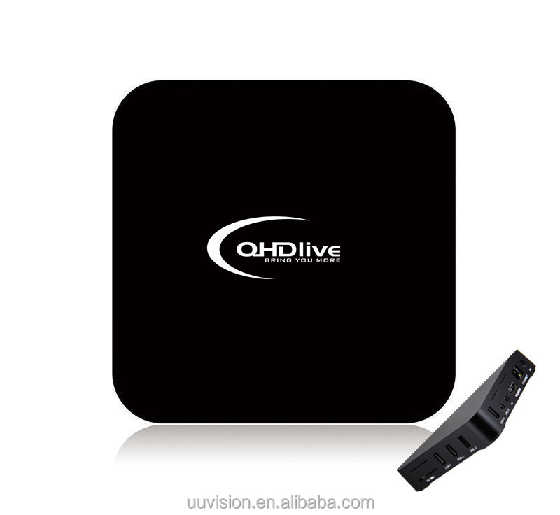 UUvision QHDLIVE IPTV TV BOX MXQ PRO with IPTV subscription support more than 2400 TV channels & HD live programs