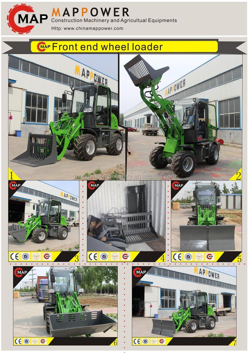 Китай Вэйфан ZL08F 4WD 800 КГ 0.8 тонны CE, Мини-погрузчики