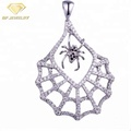 925 Sterling Silver Animal Jewelry Spider Pendant