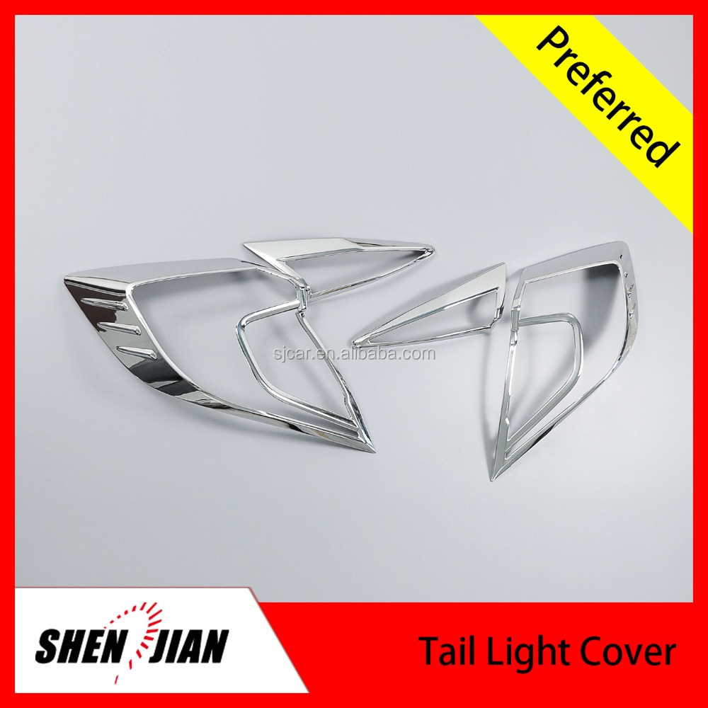 Car exterior accessories by chrome 4pcs/set Tail lamp cover Taillight cover parts