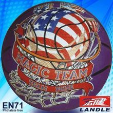 Rubber made Official size composite material american basketball