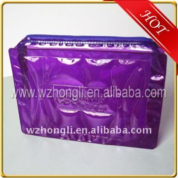 Colourful PVC cosmetic package bag with zipper