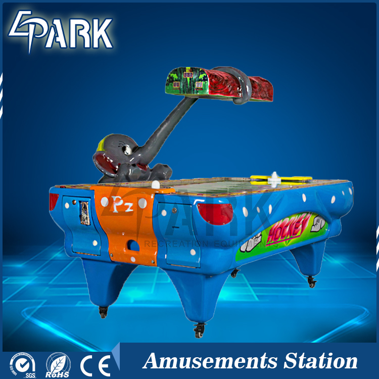 Video Arcade Game Machines Elephant Air Hockey With Double Players