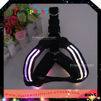 Glow in the dark ribbon pet supply led harness for dog