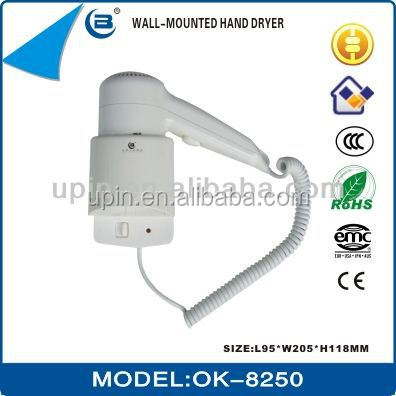 Hotel wall mount foldable hairdryers 1200W