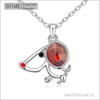 2014 Wholesale Lucky Dog pendant crystal necklace made with swarovski elements crystal necklace
