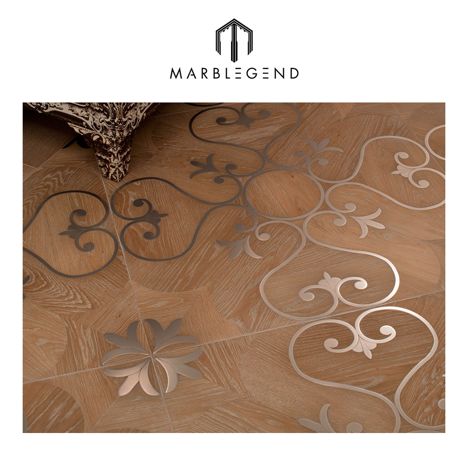 high quality oak parquet flooring marquetry wood inlay